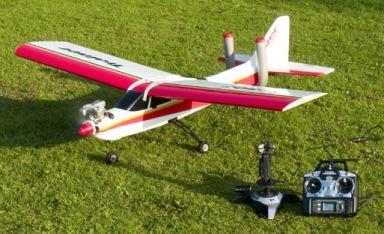 Plane-with-Joystick-Futaba-Transmitter