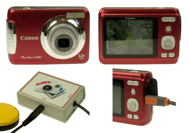 Photo of Excitim's switch accessible digital camera