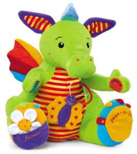 Photo of Sneezy the Activity Dragon sensory plush toy