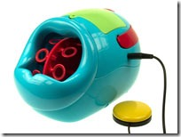 Picture of the original switch adapted bubble machine produced by Excitim.