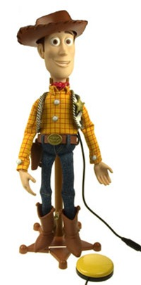 Sheriff Woody switch adapted toy
